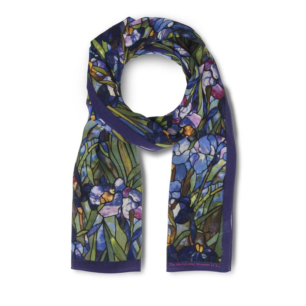 The Metropolitan Museum of Art Women's Purple Silk Floral Printed Neck Scarf