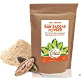 Baobab Powder, Raw, Organic Superfruit, Full of Vitamin C, High in Anti-Oxidants, Fibre, Calcium and Magnesium, Sugar free and healthy - 200g by Nutri Superfoods