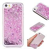 iPhone SE/iPhone 5 5S case, UNEXTATI® Glitter Quicksand Dual Layer Shockproof Hard PC