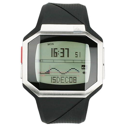 Quiksilver M128TR 18T - Reloj digital de caballero de cuarzo con correa de plástico negra (