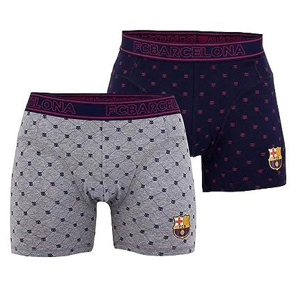 Boxers FC Barcelona Niño (Lote de 2) Licencia Oficial Azul - Gris ...