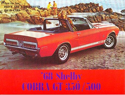 1968 SHELBY GT-350 GT-500 DEALERSHIP FACTORY SALES BROCHURE COBRA MUSTANG SHELBY (1968 Ford Mustang Shelby Gt350 For Sale)