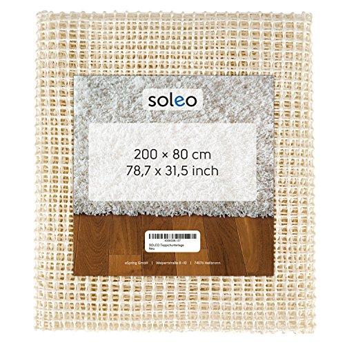 SOLEO Teppichunterlage / Teppichstopper / Antirutschmatte / Rutschschutz / Teppichunterleger, ruschfest in 200 x 80 cm (zuschneidbar) | mit 2 Jahren Zufriedenheitsgarantie