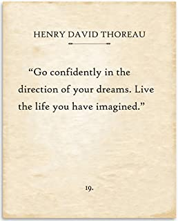 Go confidently in the direction of your dreams Thoreau Colored Magnet Flexible Magnets Q-4 Live the life youve imagined