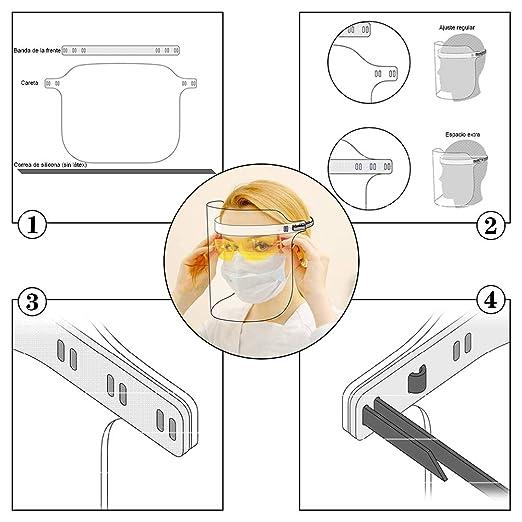 petr/óleo Gas Eatasty Unisex Face/_Shield/_Protect Visera Cubierta a Prueba de Viento Transparente 3 escupir Anti-Niebla de la Lente para Las Actividades diarias y de Trabajo
