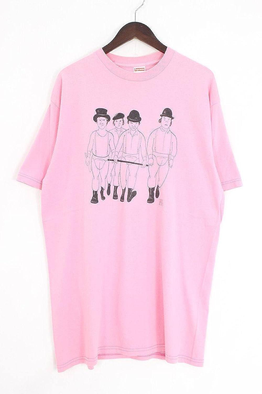 (シュプリーム) SUPREME 【2003】【Clockwork Orange Tee】時計仕掛けのオレンジプリントTシャツ(L/ピンク) 中古 B07FYBYLQX