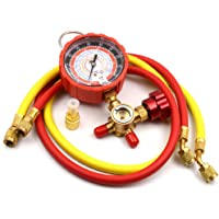 Nikauto 1Set High Pressure R404a R22 R134 R502 Automotive Air Conditioning Single Manifold Gauge kit