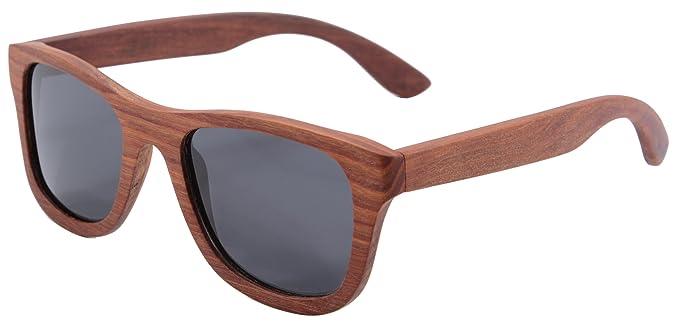 SHINU Polarizadas Gafas de Madera de Bambú Gafas de Sol ...