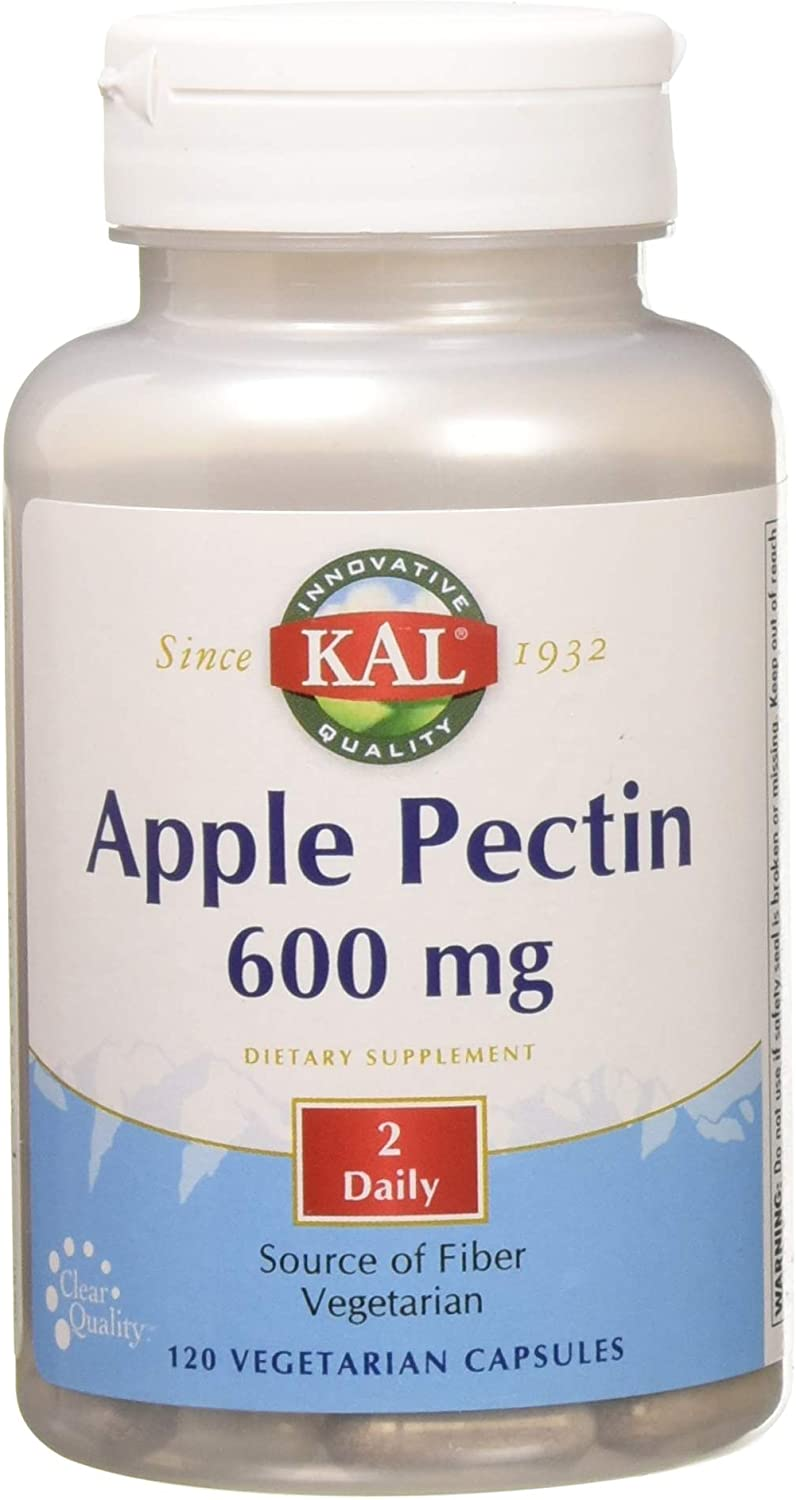 Kal 600 Mg Apple Pectin, 120 Count