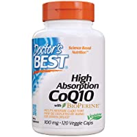 Doctor's Best High Absorption CoQ10 with Bioperine, Heart Health & Energy Production...