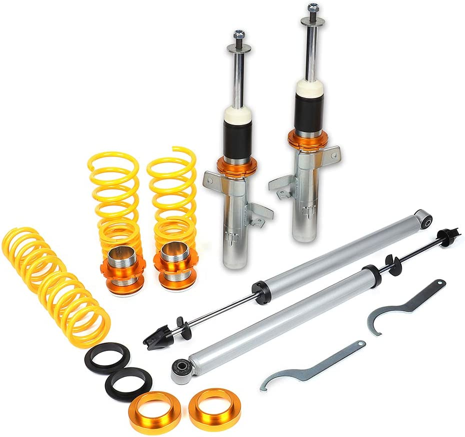 Amazon Com Coilover Struts Spring Shocks Adjustable Height Coilovers Suspension Struts Coil Spring Shocks And Struts Full Set Kits Eccpp Fit For 2003 2004 2005 Ford Focus Automotive