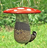The Best Wild Bird Feeder to Attract More Wild Birds, Fill it with Sunflower Black Oil Seeds, Peanuts and Suet Pellets Easy to Install, Clean & Fill, Great Gift for Friends and Family! (Red)