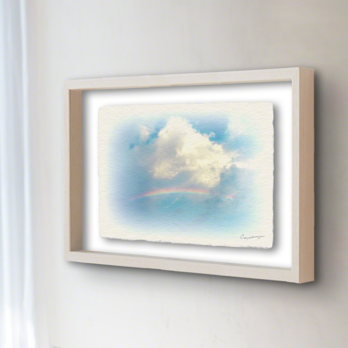 和紙 アートフレーム 「虹と入道雲」 (64x52cm) 絵 絵画 壁掛け 壁飾り 額縁 インテリア アート B072YXZT4M 25.アートフレーム(長辺64cm) 120000円|虹と入道雲 虹と入道雲 25.アートフレーム(長辺64cm) 120000円