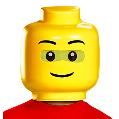 Disguise Lego Guy Child Costume Mask, One Size Child: Toys & Games