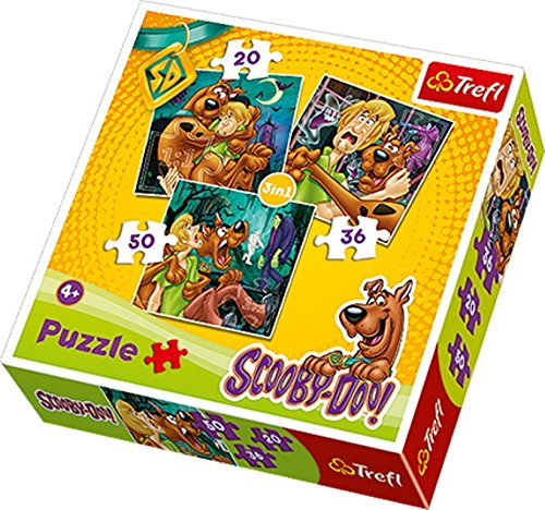 Trefl 3-in-1 Scooby Doo Look Out Ghosts Puzzle (106 (Scooby Doo 3 Piece)