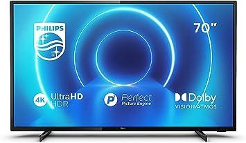 Oferta amazon: Philips 70PUS7505/12 de 70 pulgadas (4K UHD, P5 Perfect Picture Engine, Dolby Vision, Dolby Atmos, HDR 10+, Saphi Smart TV, HDMI, USB), Color negro [Clase de eficiencia energética A+]           [Clase de eficiencia energética A+]