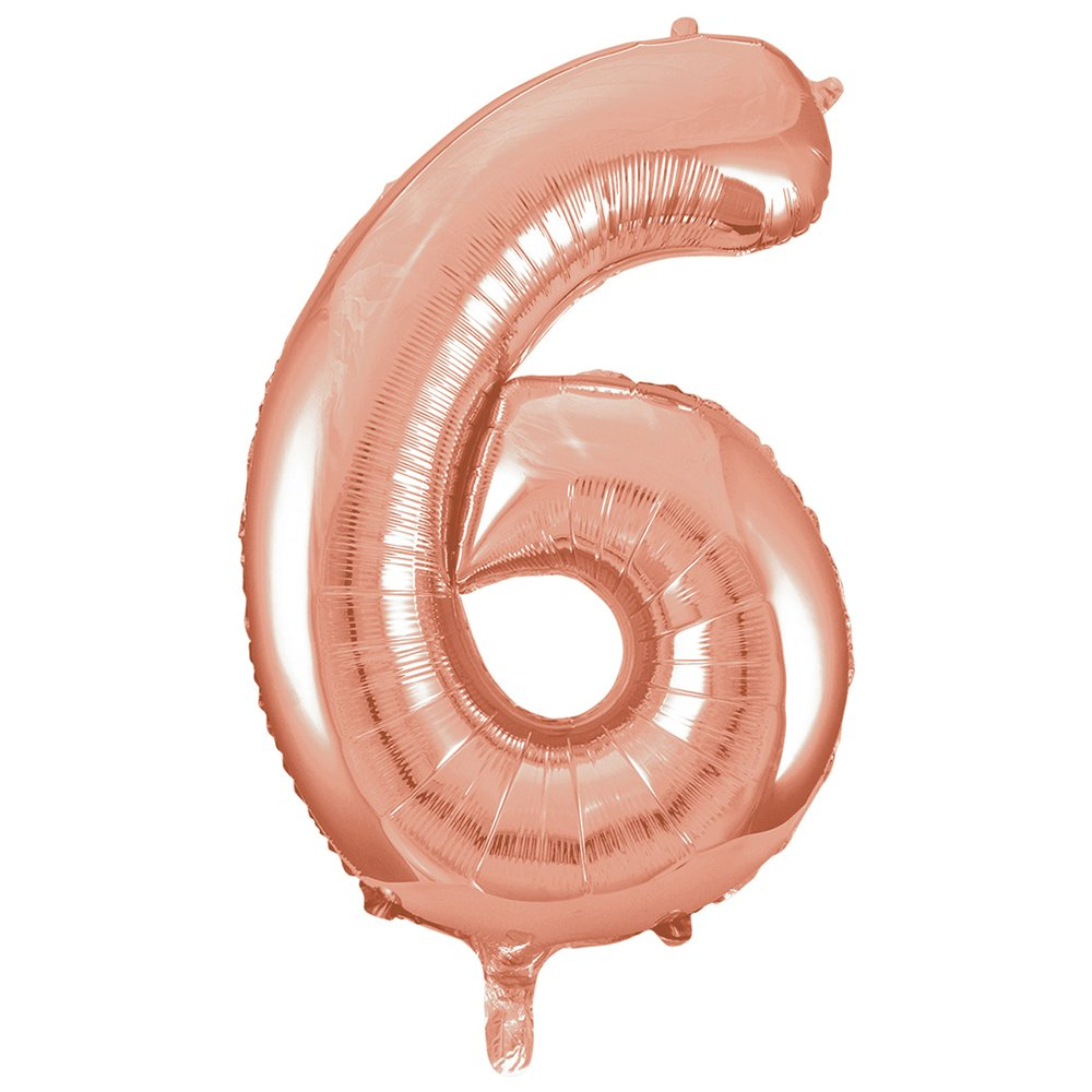 86 cm Unique Party- Globo gigante n/úmero 9 Color rosa 55739