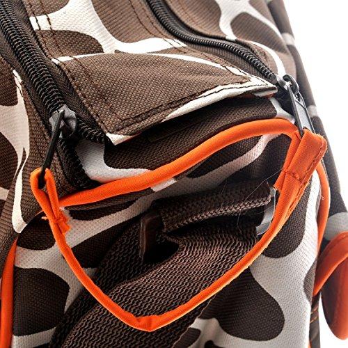 Sacchetto Del Grande Primi Giraffa Capacità Pannolini Multifunzionale Cambio Arancione Di r5tXqr