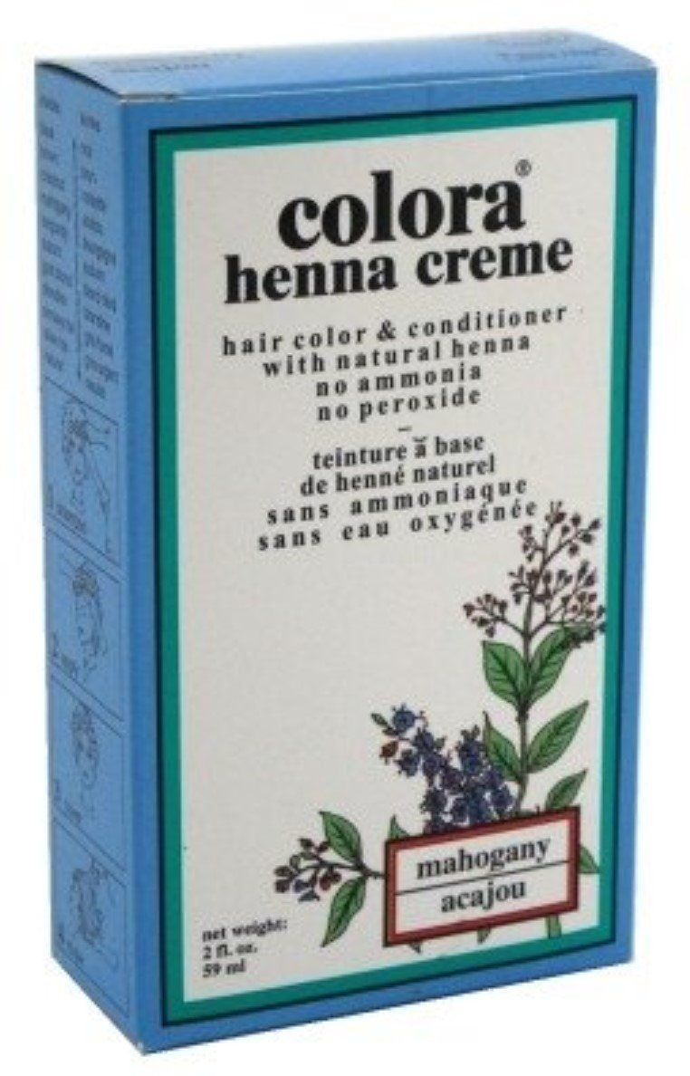 Colora Henna Creme Hair Color Mahogany, 2 oz (Pack of 12) by Colora Henna Creme