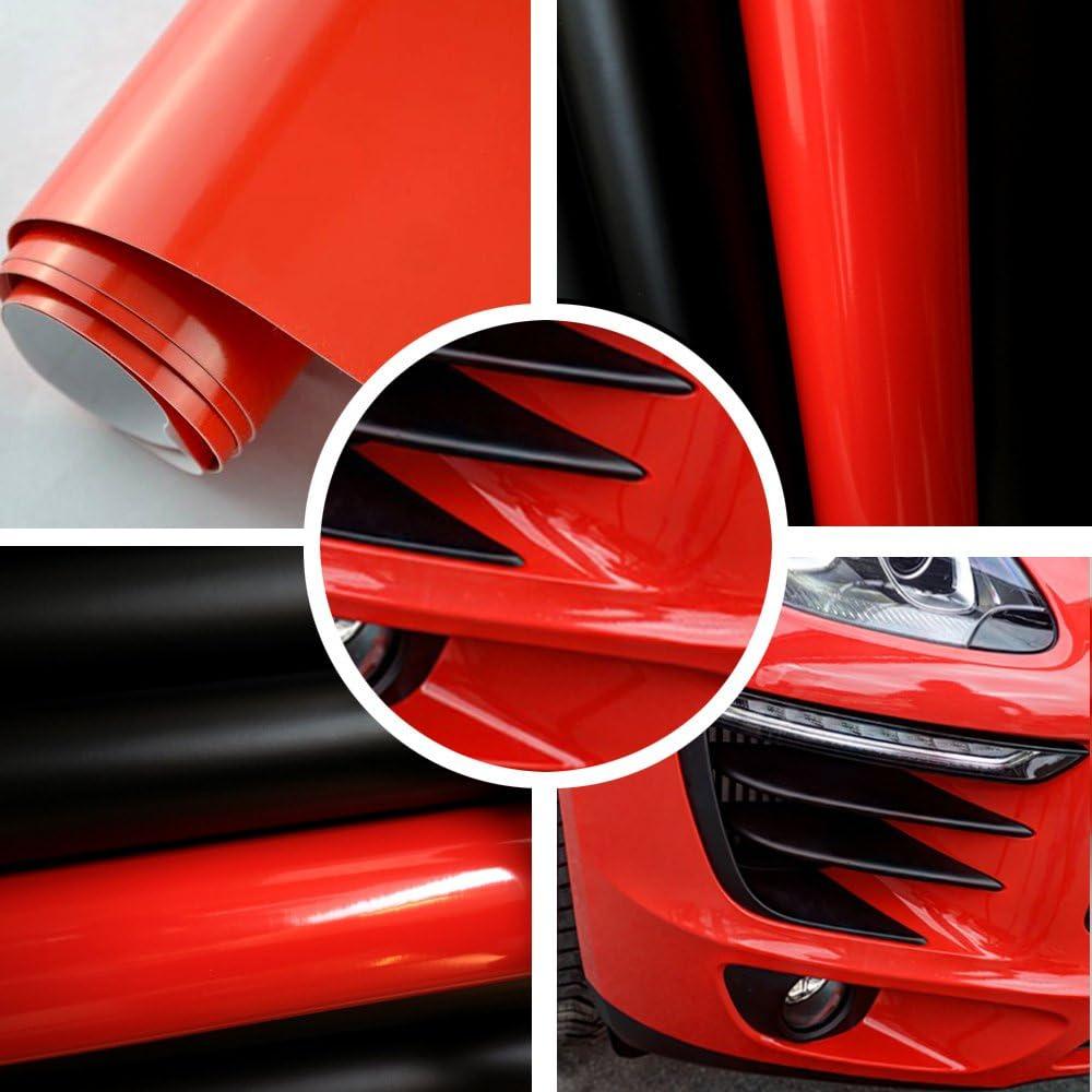 Tiptopcarbon 8 55 M Glanz Hochglanz Rot 152cm Breit Blasenfrei Autofolie Selbsklebend Mit Luftkanäle 3d Flex Folie Auto Küche Haushalt