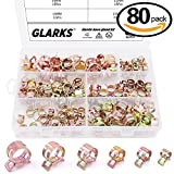 Glarks 80Pcs Spring Band Type Clips Air Hose Tube Water Pipe Fuel Pipe Silicone Vacuum Hose Clamp Fasteners Assortment Kit (7mm 10mm 11mm 14mm 16mm 17mm)