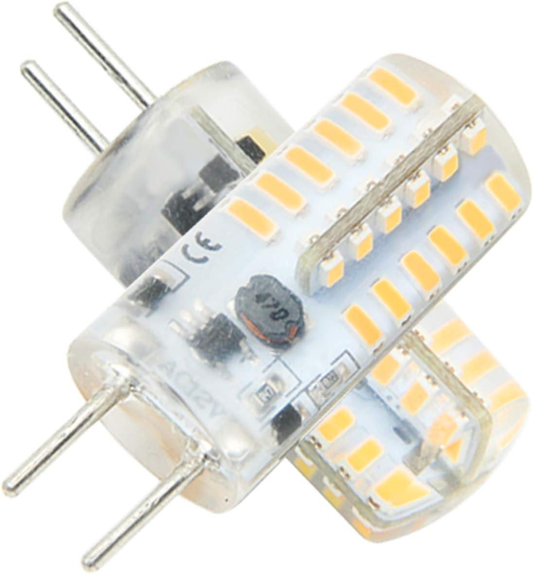 Ymm G6.35 GY6.35 Alto Brillo Bombilla LED 3W Equivalente a Lámpara Halógena de 30W,AC 12V,Blanco Cálida 3000K (5 unidades) [Clase de eficiencia energética A+]