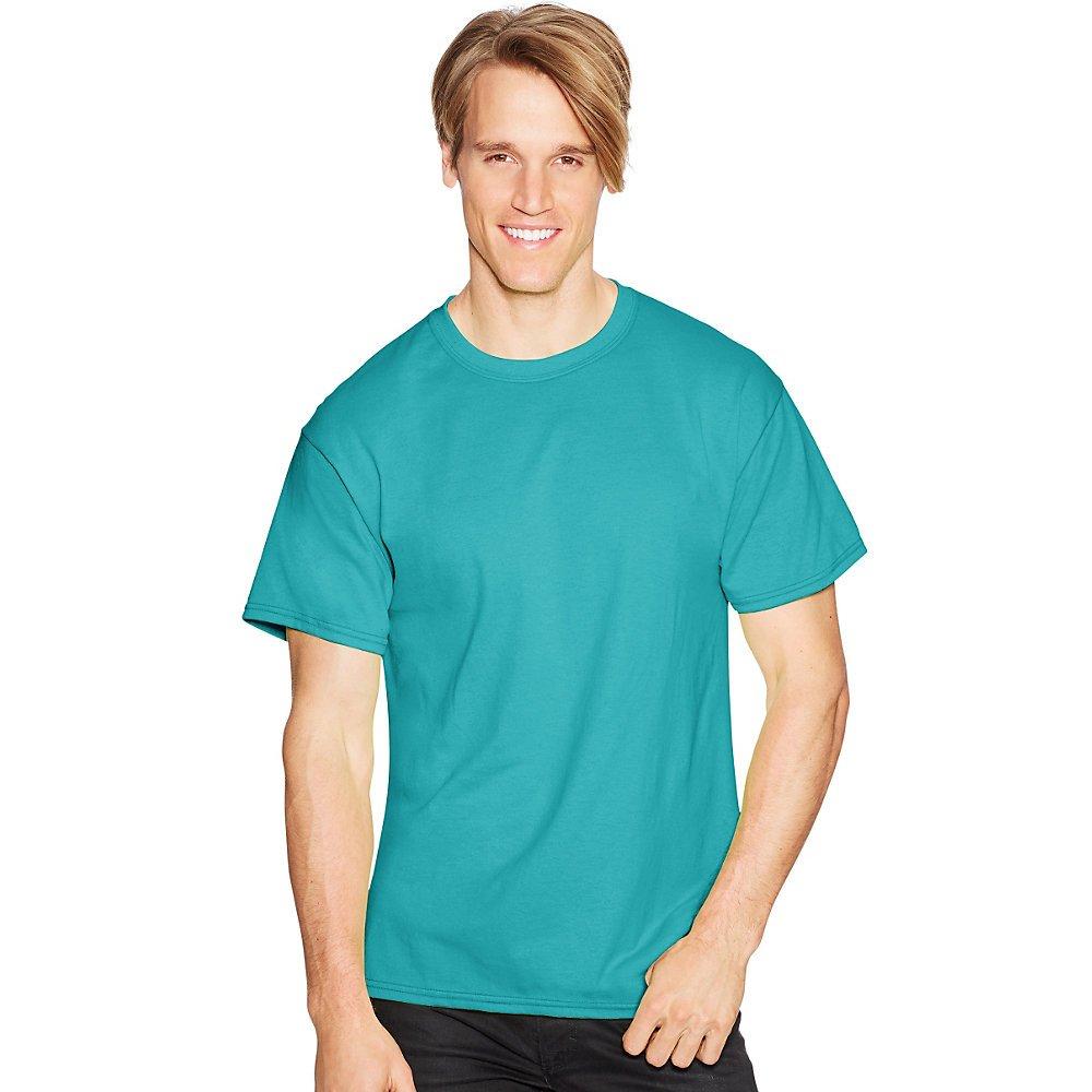 Hanes ComfortBlend EcoSmart Crewneck Mens T-Shirt/_Teal/_L