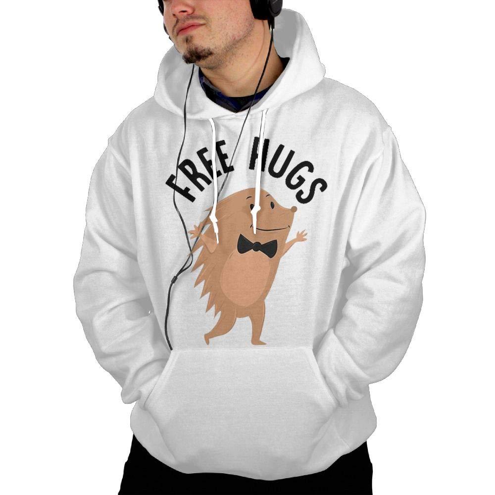 Shenigon Free Hugs Mens Hoodie Sweatshirt with Pocket