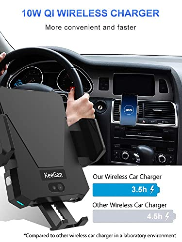 Amazon Com Keegan Infrared Car Phone Mount Qi Fast Wireless Charger Fully Automatic Air Vent Holder For All Qi Enabled Phones Black Cell Phones