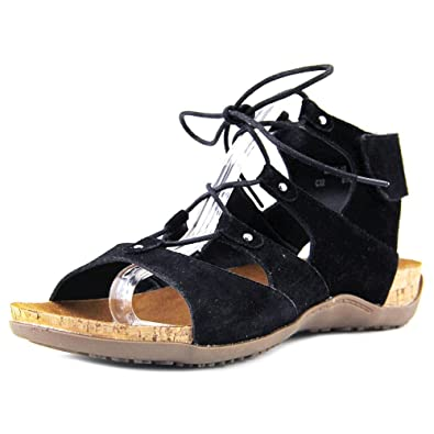 ebd4ea9a350 Bearpaw Womens Jodie Suede Open Toe Casual Gladiator Sandals  Amazon ...
