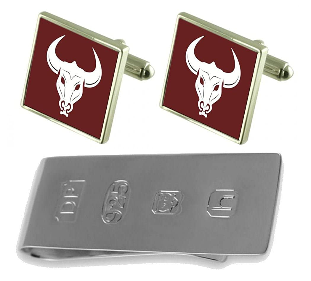 Select Gifts Bull Head Cufflinks /& James Bond Money Clip