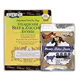 Steakhouse Beef & Zucchini Entrée (Dog) 2lbs / Meaty Bites 4oz Bundle