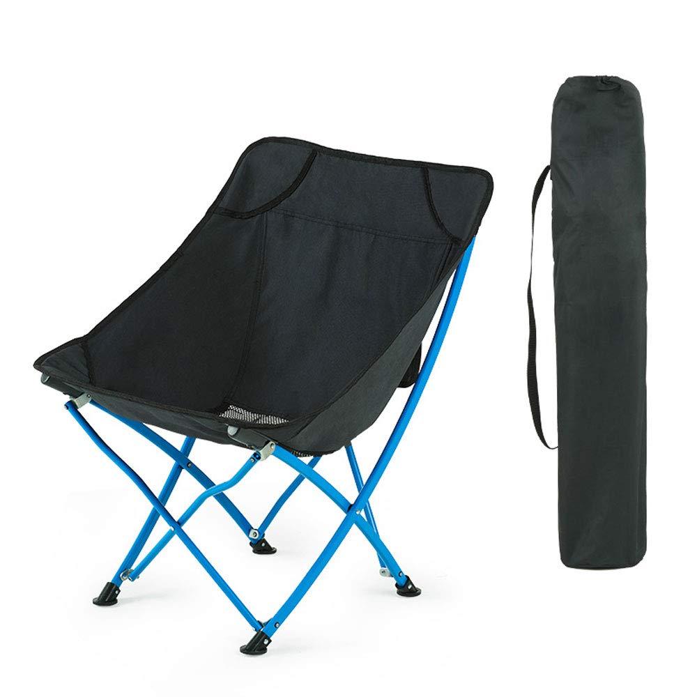 屋外折りたたみ椅子ポータブルシンプルMazarビーチキャンプ釣りスツール  Black B07NRSBMD3