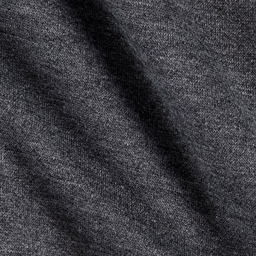 Richland Textiles Sweatshirt Fleece Charcoal Fabric by The Yard,