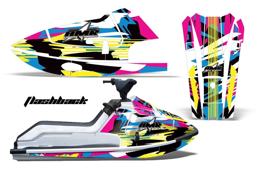 1986-1995 Kawasaki X2 AMRRACING Jet Ski Graphics Decal Kit - Flashback
