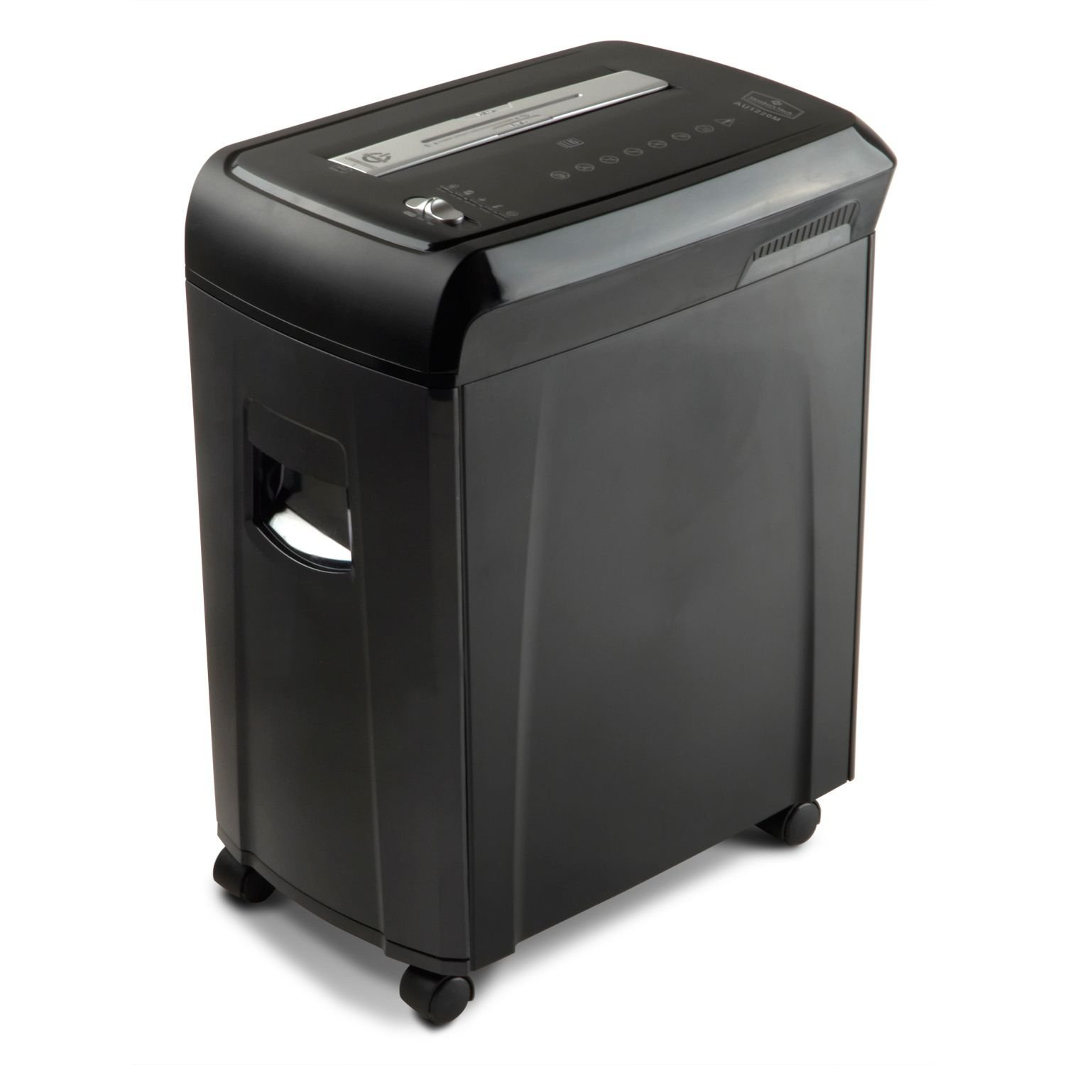 Office or Home Paper Shredder Business with advanced Safety Features Black 12 Sheet Capacity Micro Cut Members Mark