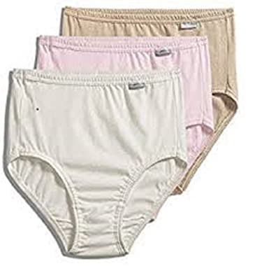 6170MlCLd7L._UX385_ jockey� women's underwear elance brief 3 pack, pale cosmetic, 7,Womens Underwear Amazon