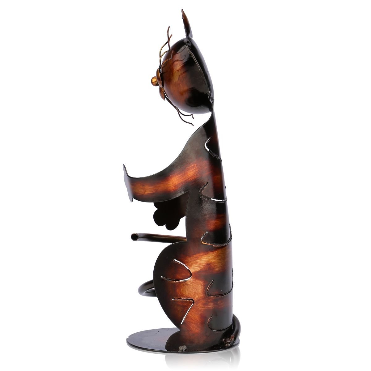 Cat Pratica Decorazione Scultorea Casa Scaffale del Metallo Crafts Decorazione dinterni Tooarts Portabottiglie Per Vino Dal Design