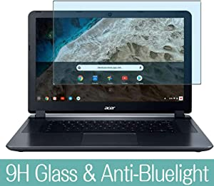 """Synvy Anti Blue Light Tempered Glass Screen Protector for 2018 Acer 15.6"""" Chromebook 15 CB3-532-C8DF Visible Area 9H Protective Screen Film Protectors"""