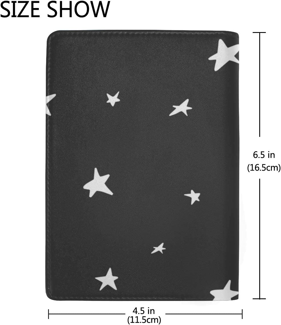 Passport Hard Case Cute Different With Stars Stylish Pu Leather Travel Accessories Passport Kids Case For Women Men