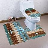 WCHUANG Anchor Bathroom Rug Decorative Bath Rugs - Non Slip non slip bath mat, Set of 3 (anchor)