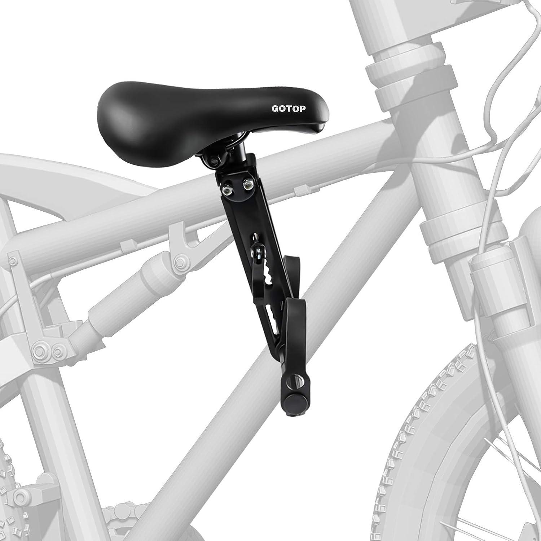 sedile anteriore compatibile con tutti gli adulti MTB Seggiolino anteriore per bicicletta per bambini per mountain bike per bambini montato su sellini staccabili