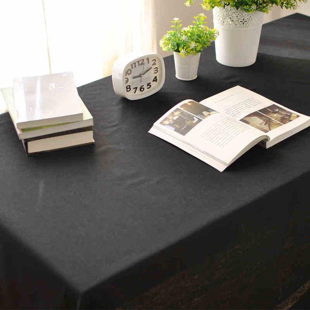 centro comercial de moda HAOLIA Mantel de lino negro negro negro puro tovaglie ( Tamaño : 135250cm )  promociones