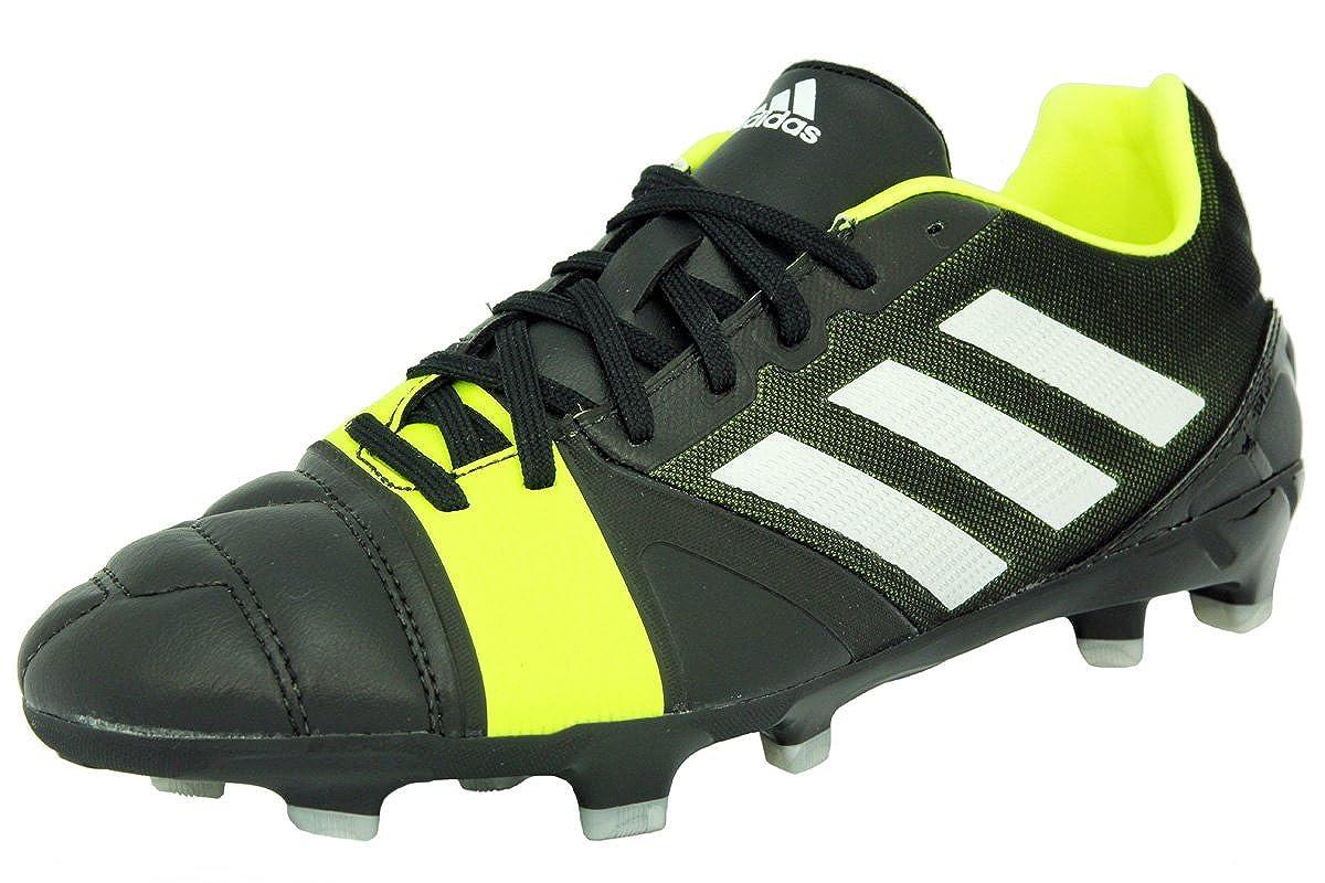 Adidas NITROCHARGE 2.0 TRX FG Schwarz Gelb Leder Herren Fussball Schuhe Neu