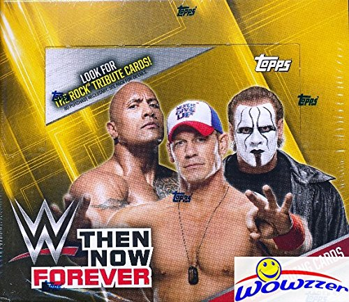 2016 Topps WWE Wrestling Then, Now, Forever MASSIVE 24 Pack Factory Sealed Retail Box with 168 Cards! Look for Cards, Autographs & Relics of Jon Cena, The Rock, Triple H, Sting, Ric Flair & More! Wowzzer