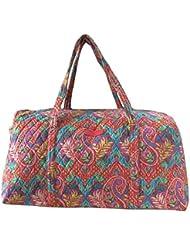 Vera Bradley Luggage Womens Large Duffel Paisley in Paradise Duffel Bag