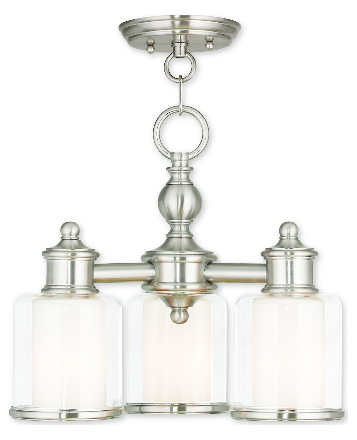 Middlebush Brushed Nickel Convertible Mini Chandelier/Ceiling Mount