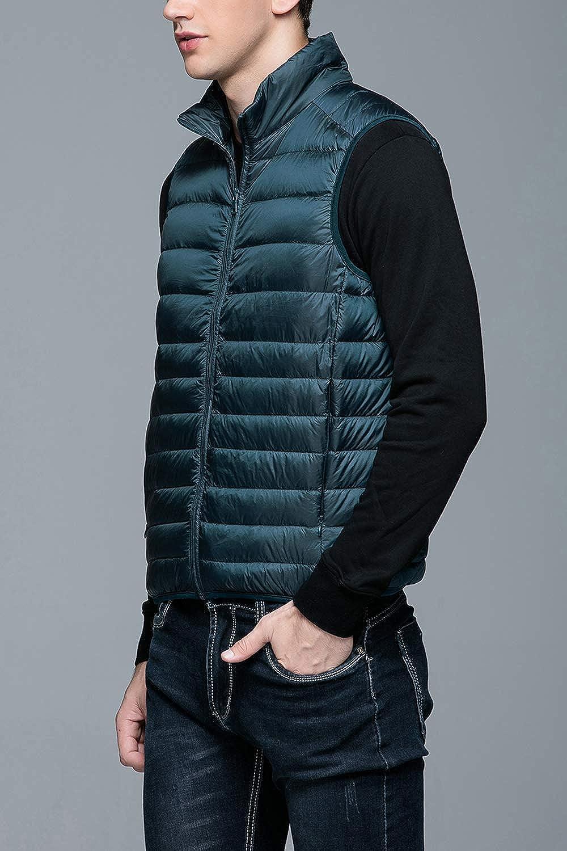 Ultra Light Outdoor Puffer Vest L-XXXL Men Zip Up Packable Vest