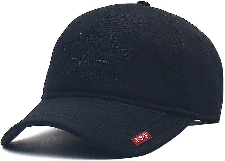 Feisette Korean Version Mens Baseball Cap Summer Sunshade Hat Sunscreen Breathable Cap Youth Travel Hat