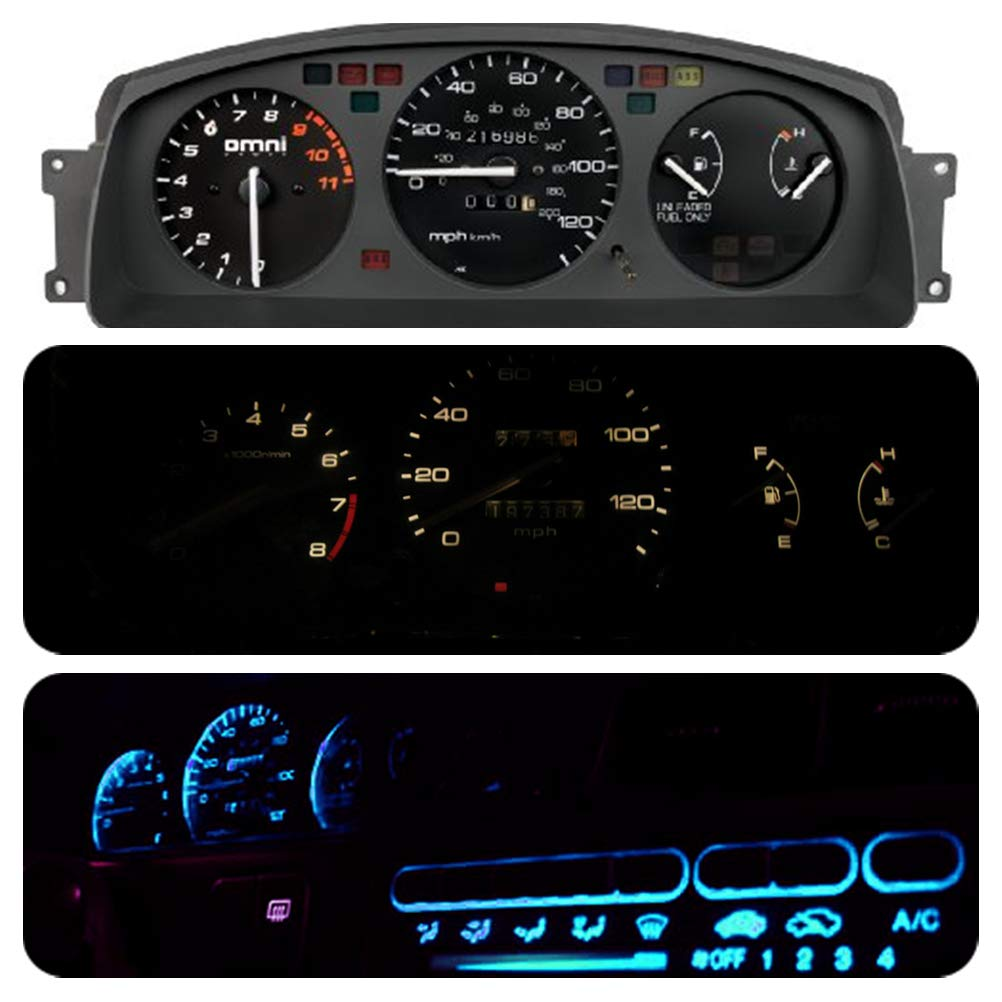Climate Control Bulb Led Light Kit for Honda Civic Eg 1992-1995 Pack of 16 WLJH Bright Red Automotive Dashboard Instrument Panel Cluster Gauge